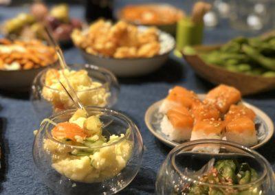 Salade de pomme de terre et concombre & yuzu