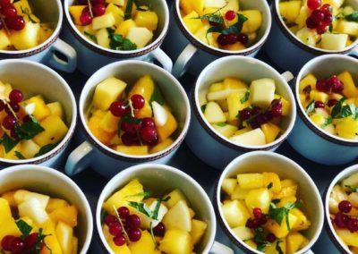 Salade de fruits menthe et vinaigre de yuzu